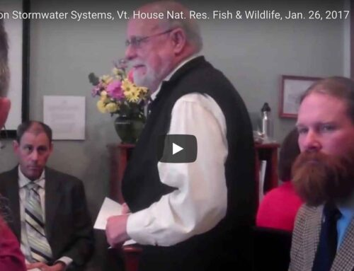 High Elevation Stormwater System on Lowell Wind, Testimony in House Natural Resources, Fish & Wildlife Committee